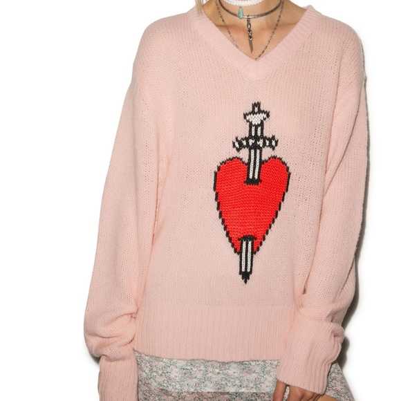 Wildfox Sweaters White Label King Of Hearts Sweater Nwot Poshmark